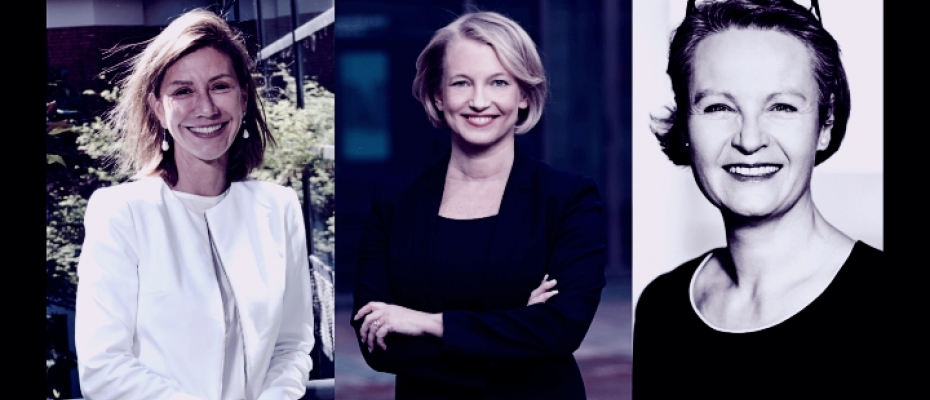 From left to right: Pascale Lagesse, Maria-Pio Hope y Lise Lotte Hjerrild / courtesy